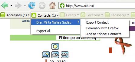 microformato hCard en el portal de infomed