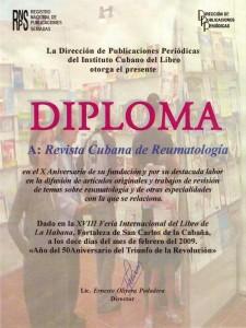diploma de la RCuR