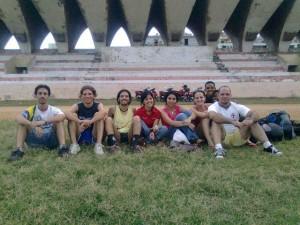 Equipo de Futbol de Infomed en el Parque Martí